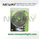 220V High Voltage RGB LED Strips Kit 60Lights/M