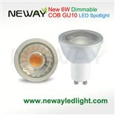 Dimmable 6W GU10 COB LED Spot light
