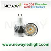 Dimmable COB indoor  LED Spot light  4W GU10