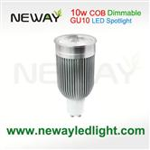 Dimmable 10W LED Spotlight  COB  GU10