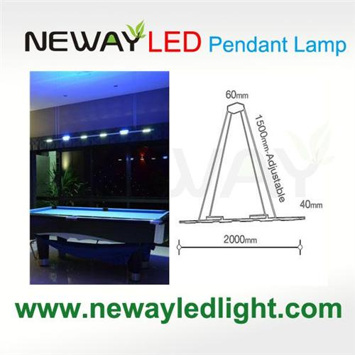 Remote control direct indirect linear pendant lighting 3w cob led view enlarge image aloadofball Image collections