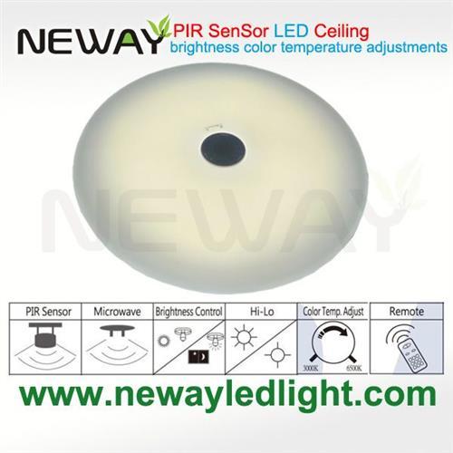 View Enlarge Image  sc 1 st  Neway Lighting Intu0027l Co.Ltd & 35W Motion Sensor LED Ceiling Lightsled ceiling lights with human ... azcodes.com