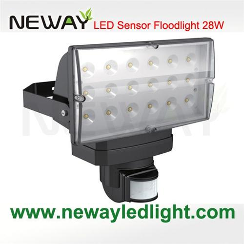 Outdoor 28w pir infrared motion sensor led flood lightingoutdoor view enlarge image aloadofball Image collections