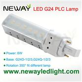6W G24 Lamp Base PLC LED Light Bulb replace 13W CFL