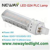 8W G24 Plug in Socket LED PLC Lamp Bulb replace 18W CFL