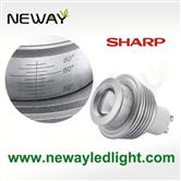 5W 220V GU10 LED Spot light 30 to 80 Degree Adjustable Beam Angle