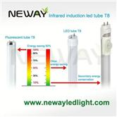 low people-traffic lighting sensor led t8 tube light bulb fixtures
