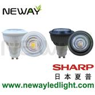 sharp cob led spotlight pure white light bulb