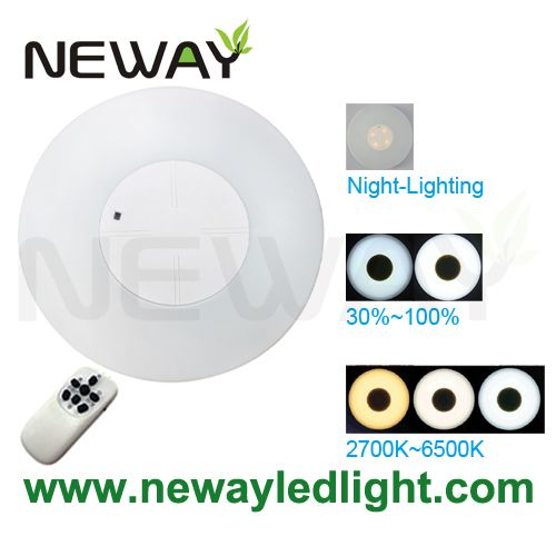 View Enlarge Image  sc 1 st  Neway Lighting Intu0027l Co.Ltd & 48W Cordless LED Ceiling Lights Remote Controldimmable led surface ...