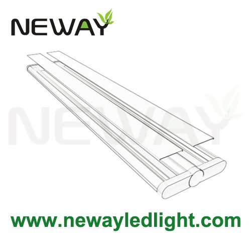 36w unique linear hanging led tube light down lighting 1190mm hanging led tube lights down