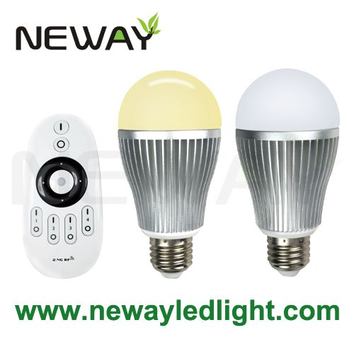 9W E27 Dimmable LED Color Temperature Bulb with Remote Controller 01  sc 1 st  Neway Lighting Intu0027l Co.Ltd : remote dimmable led lighting - www.canuckmediamonitor.org