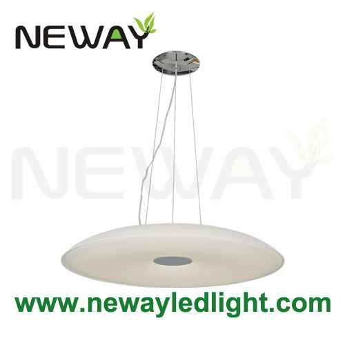 Led round suspended lamp architectural lighting pendant for Suspente luminaire
