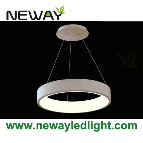 Home decor circle led suspension light fixture modern pendant lamp