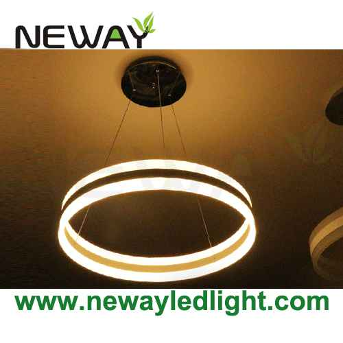 High efficiency modern circle led direct indirect light pendant lamp view enlarge image aloadofball Image collections
