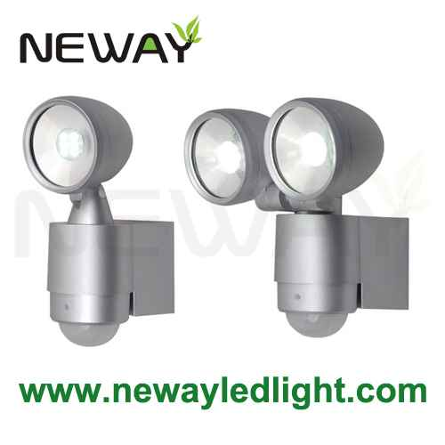 Led twin head security sensor light outdoor or indoor 3w 6w ip44 view enlarge image aloadofball Image collections