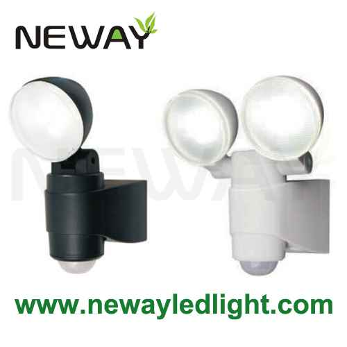Guard twin head led security light pir motion sensor spotlight view enlarge image aloadofball Image collections