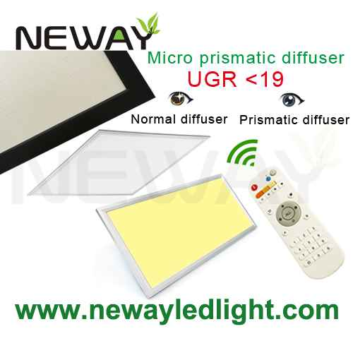 View Enlarge Image  sc 1 st  Neway Lighting Intu0027l Co.Ltd & Remote Controlled Ultra-thin 40W LED 600x600 Dimmable Panel Light ...