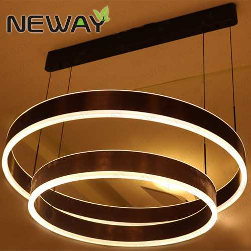 Led ring suspension direct indirect lighting pendant light fixtures