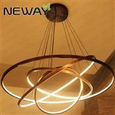 2 3 4 Rings Modern Contemporary Suspension Circle LED Pendant Lighting