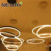 3 Rings LED Suspended Lamp Architectural Lighting Pendant Luminaire