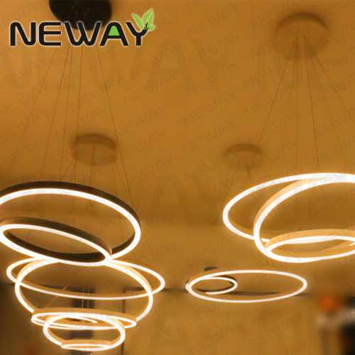 3 rings led suspended lamp architectural lighting pendant luminaire view enlarge image aloadofball Gallery