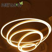 Five Rings Round LED Suspension Lighting LED Acrylic Chandelier Lights