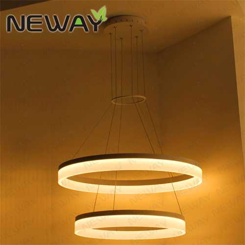 Decorative Lighting Fixtures. View Enlarge Image 2 Rings Modern Circle LED Pendant Suspended Ceiling Lighting
