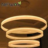 Modern LED Large Ring Arcylic Circle LED Pendant Suspension Lights