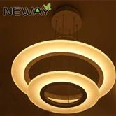 Modern LED Ring Pendant Light Acrylic Circle LED Pendant Light Fixture