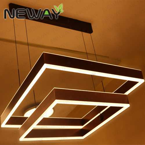 Square led chandeliers led direct indirect lighting led pendant lights