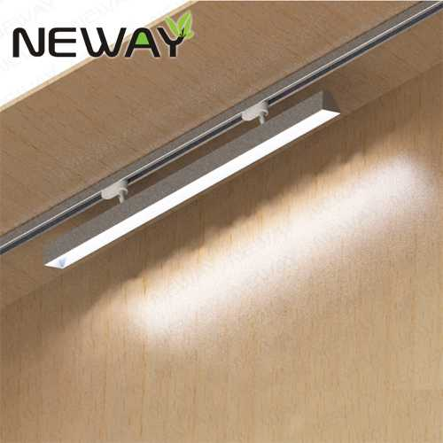 Commercial Grade Led Track Lighting: 24W36W48W60W 60Deg. Indoor Commercial Rail Track Mounted