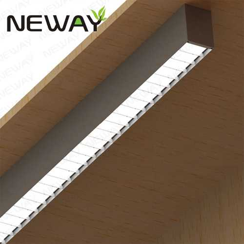 24W36W48W60W UGR Ceiling Surface Mounted LED Linear Light Fixtures