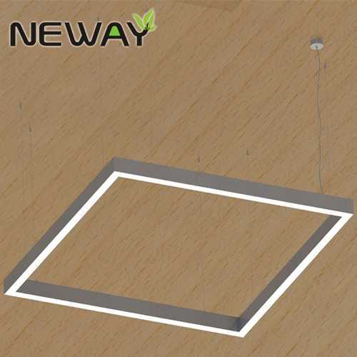 300 600 1200 MM Modern Square LED Acrylic Hanging Light