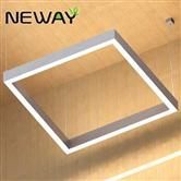 400 500 1000MM White Square LED Direct Indirect Pendant Light Fixture