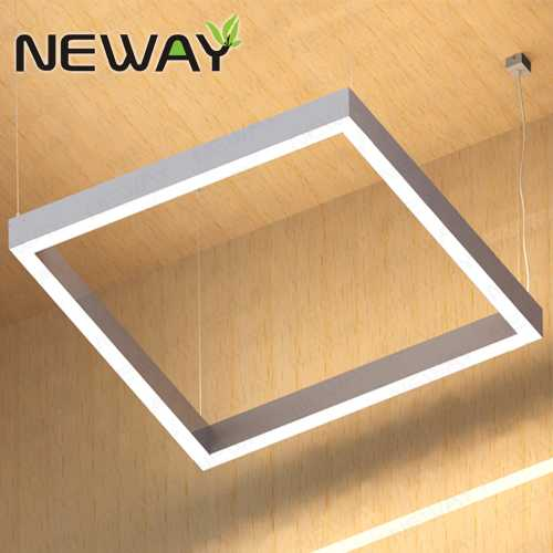 400 500 1000MM White Square LED Direct Indirect Pendant