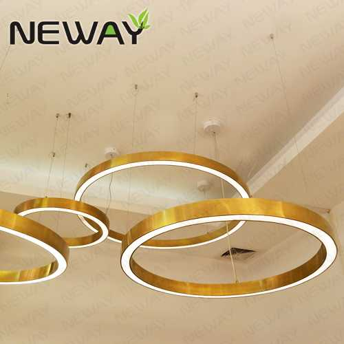 510MM 915MM 1220MM Circular Entry Building Luminaire Chandelier