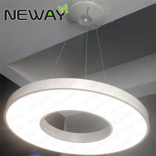 600MM 800MM Circular Acrylic Aluminum Pendant Lighting
