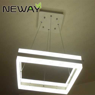 up-down lighting led hanging light square modern crystal ...