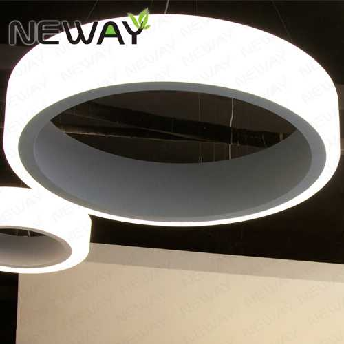 12m 15m led ring light arcylic circle led pendant suspension view enlarge image mozeypictures Images