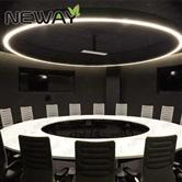 2M 1.2M Big modern luxury ring LED large chandelier for hotel decor