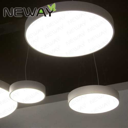 Modern ring acrylic led chandelier for studio office 720mm 900mm 12 view enlarge image mozeypictures Gallery