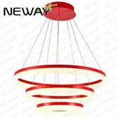 single ring 2-rings 3-rings Interior designer LED chandelier lighting