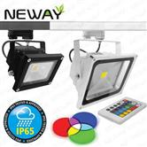 10W 30W 50W IP65 RGB Track Lighting LED Flood Spot Light Bulbs