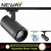 40W Adjustable Beam Angle 20 to 60 Degree LED Track Lighting