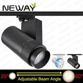 40W Adjustable Beam Angle LED Track Light Art Gallery Lighting