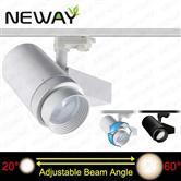 40W 20-60 Degree Beam Angle Adjustable Led Track Lighting