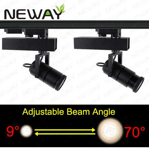 35w ip44 zoomable led track lighting exhibit hall decor track