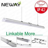 IP42 LED Linear Light Linkable connection 20W 40W 60W 1200MM 1500MM